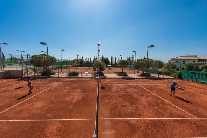 Clay courts Aphrodite Hills
