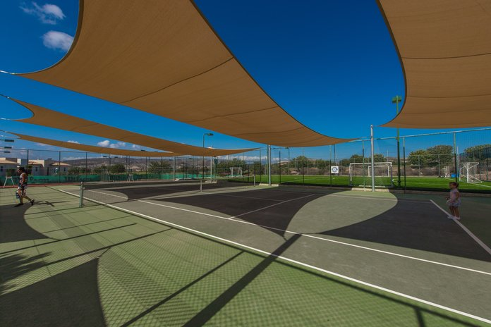 covered hard tennis court